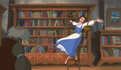 Beauty and the Beast library - Novel Conclusions - writing blog