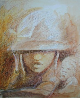 Child Soldier Drawing - Novel Conclusions writing blog - writing tips - authenticity in writing YA fiction