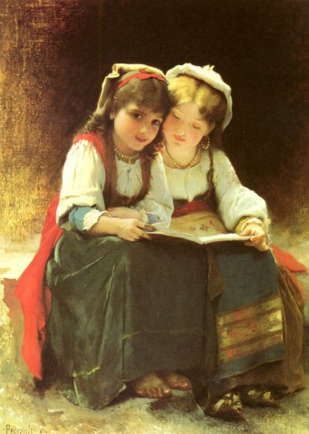 An Interesting Story painting - Leon Perrault - Novel Conclusions - writing blog - reading blog - book blog - writing tips - reluctant readers
