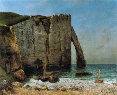 Cliffs at Étretat by Gustave Courbet via Wikimedia Commons