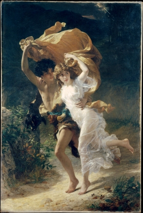The Storm - Pierre-Auguste Cot - public domain painting - Novel Conclusions - Christi Gerstle - Christina Gerstle - literary blog - writing tips